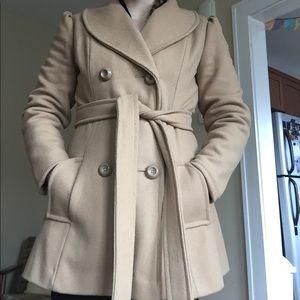 🐪 COOLEST Camel winter coat wool tie waist 🐫